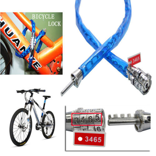 Universal Anti-theft Bike Bicycle Safety Password Lock Cycling Security Cable bule(China (Mainland))