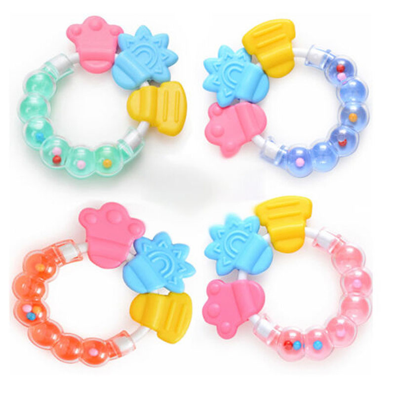 Free Shipping Silicone Baby Teether Toothbrush Toother Toddler Bell Chew Toy Massager New(China (Mainland))