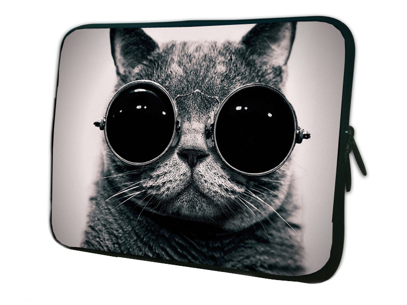 """Funny Cat Sleeve Case Cover For Notebook Tablet 10 10.1 10.2 10"""" Neoprene Computer Bag For 9.7"""" iPad Air 2 10.1"""" HP Mini 110 210(China (Mainland))"""