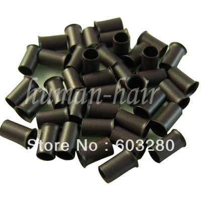 1 jar= 500 copper tubes/ beads/links Dark Brown color for stick tip hair and Micro loops hair extension<br><br>Aliexpress