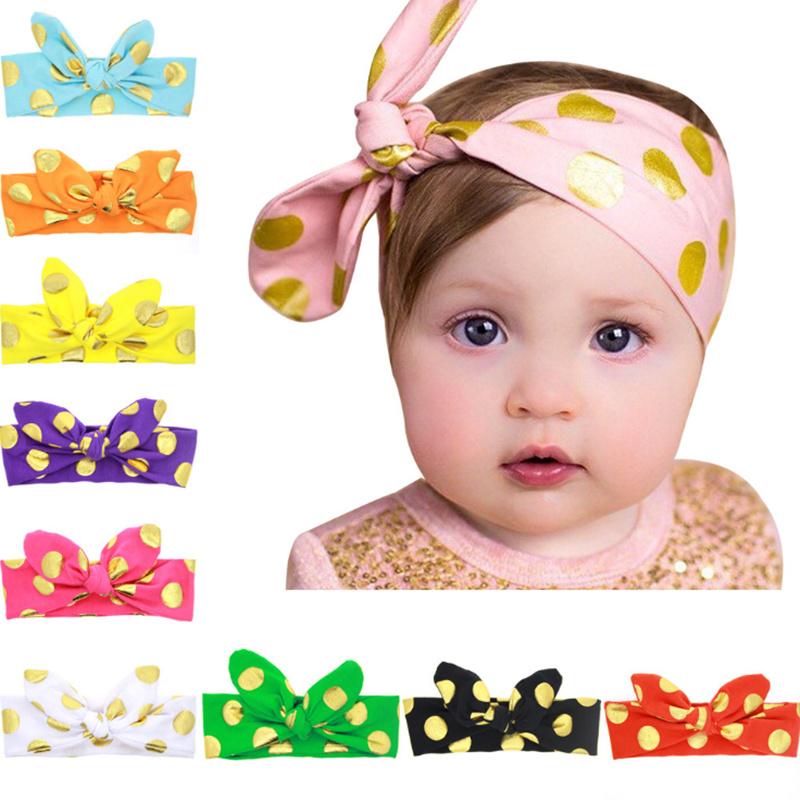 Hair ties Girls Rabbit ear Dot headband New accessories tiara for Baby Girl Elastic Band Hairband Cotton head bands acessorios(China (Mainland))