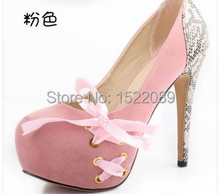 2015 spring vintage Pumps Shoes For Women's Stiletto big size red sole bottom shoes woman high heels platform(China (Mainland))