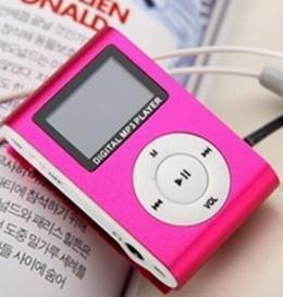 New-Portable-FM-Radio-LCD-Screen-Metal-Mini-Clip-MP3-Player-With-Micro-TF-SD-Card(Hong Kong)