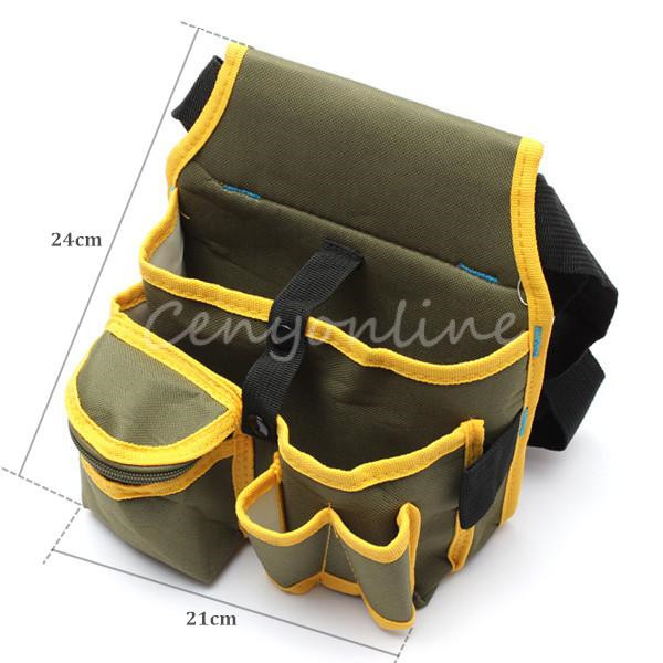 Top Quality Hardware Mechanics Canvas Tool Bag Utility Pocket Pouch Utility Bag With Belt(China (Mainland))