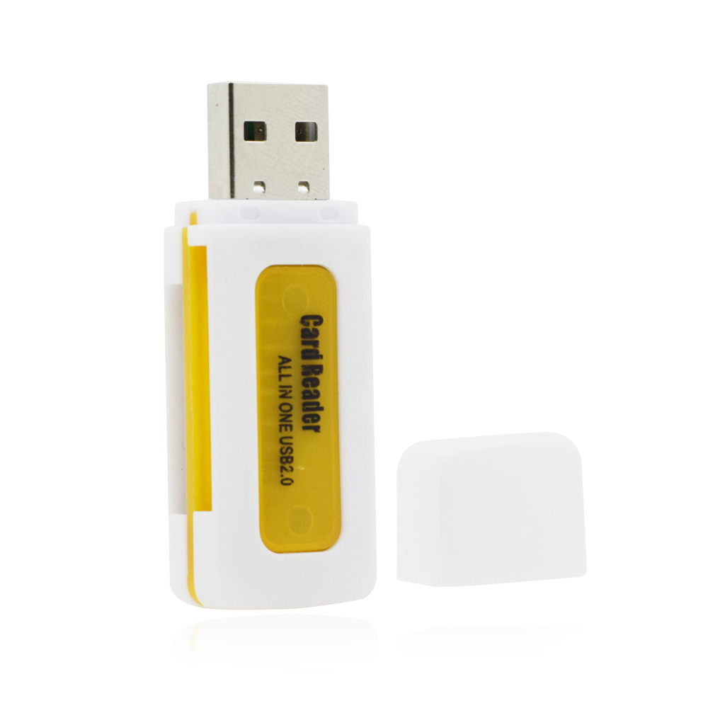 Protable Micro USB 2.0 Card Reader M2 SD SDHC Micro SD TF Card Multi in One Card Readers ER006(China (Mainland))