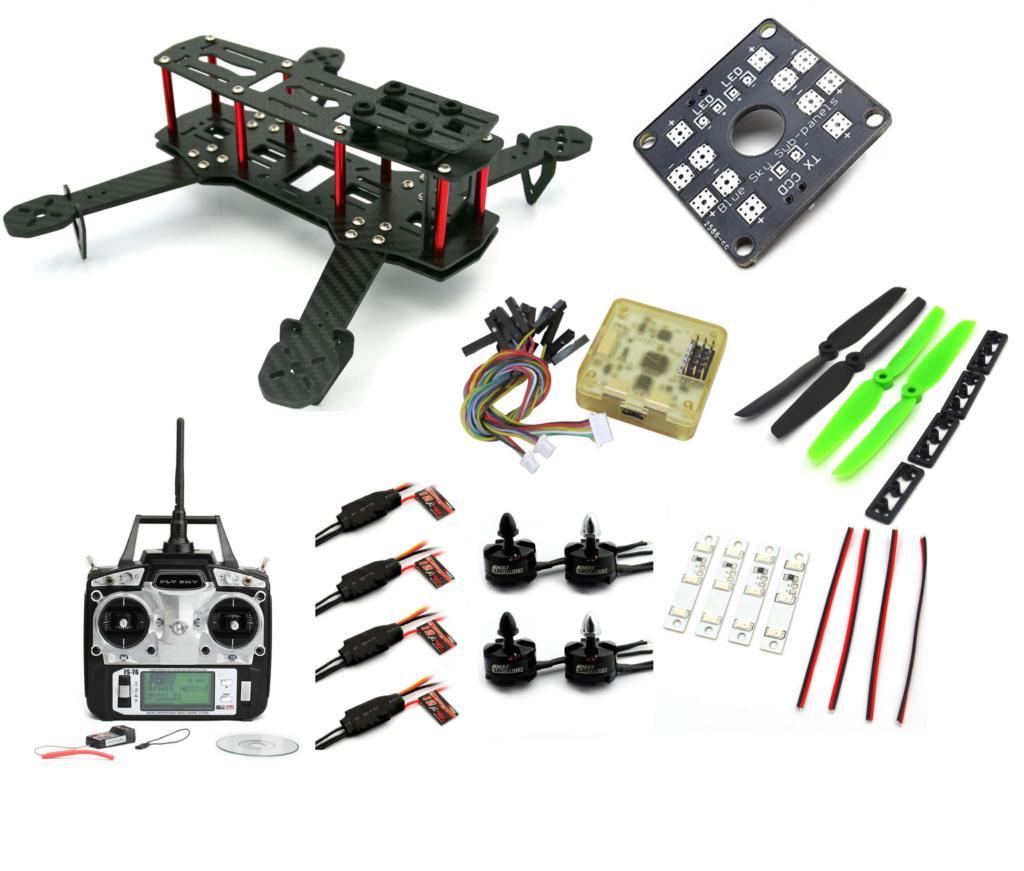 Carbon Fiber Mini QAV250 C250 Quadcopter Frame Motor 12A Esc CC3D Flight Control<br><br>Aliexpress