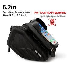 Coolchanger водонепроницаемая сумка для велосипеда рамка Передняя головка верхняя труба велосипедная сумка двойная IPouch 6,2 дюймов сенсорный экра...(China)