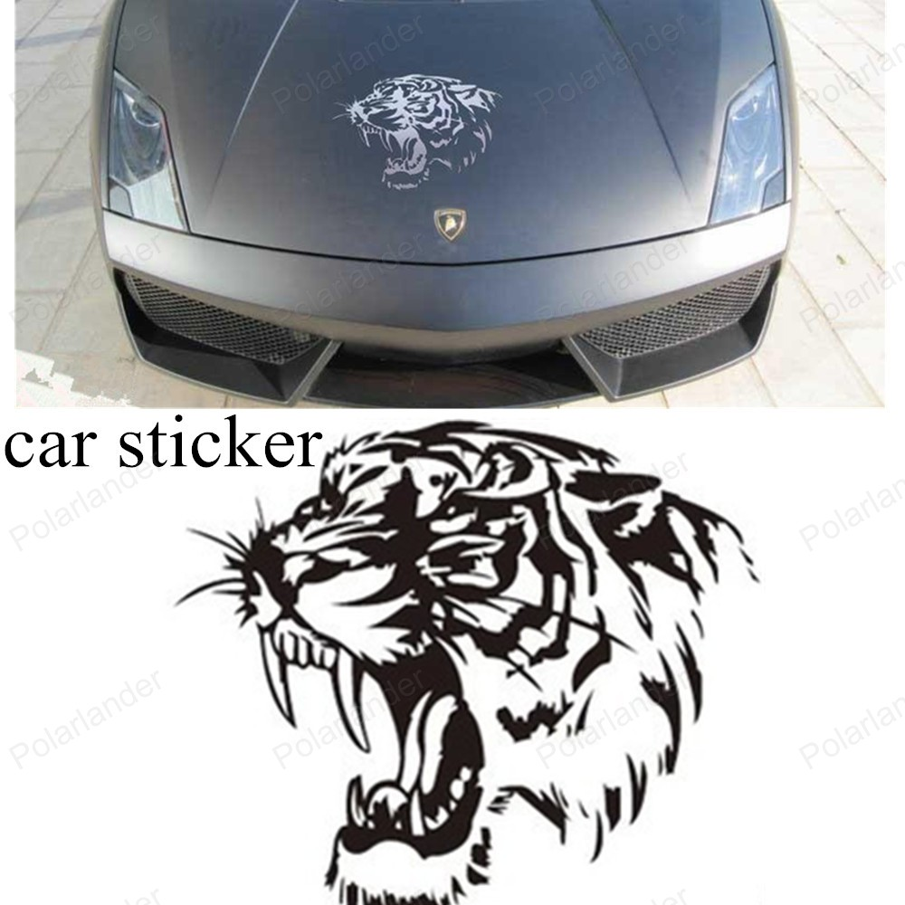 Car sticker design black - Cool Creative Personalized Reflective Tape Tiger Head Car Stickers Car Accessories Car Styling Decals Motorcycle Stickers