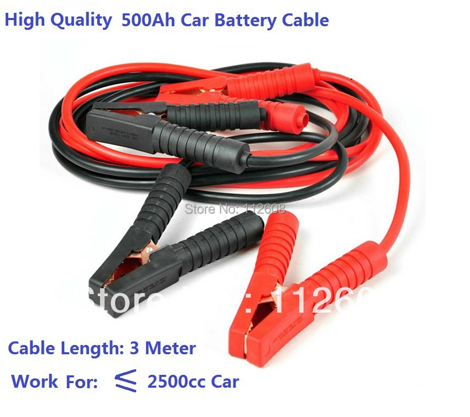 Highquality 3Meter 500Ah Car Booster Cable Car battery cable Car Battery Jumper Cable Emergency battery Cable(China (Mainland))
