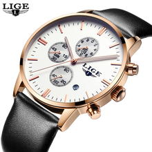 Buy Mens Watches Top Brand Luxury LIGE Men Military Sport Luminous Wristwatch Chronograph Leather Quartz Watch relogio masculino for $16.99 in AliExpress store