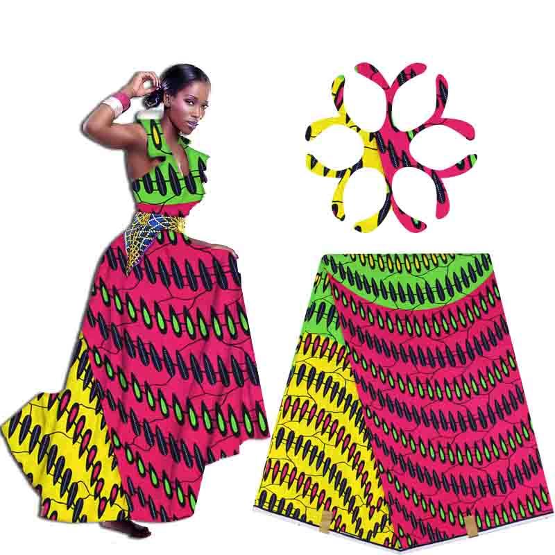Free shipping veritable dutch real print hollandais wax african clothing 100%cotton fabric 6 yards/pcs H1510330