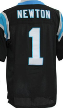 Wholesale Men's #1 Cam Newton Jersey Team Black White Blue Stitched Cheap Cam Newton Sports Jerseys Free Fast Shipping(China (Mainland))