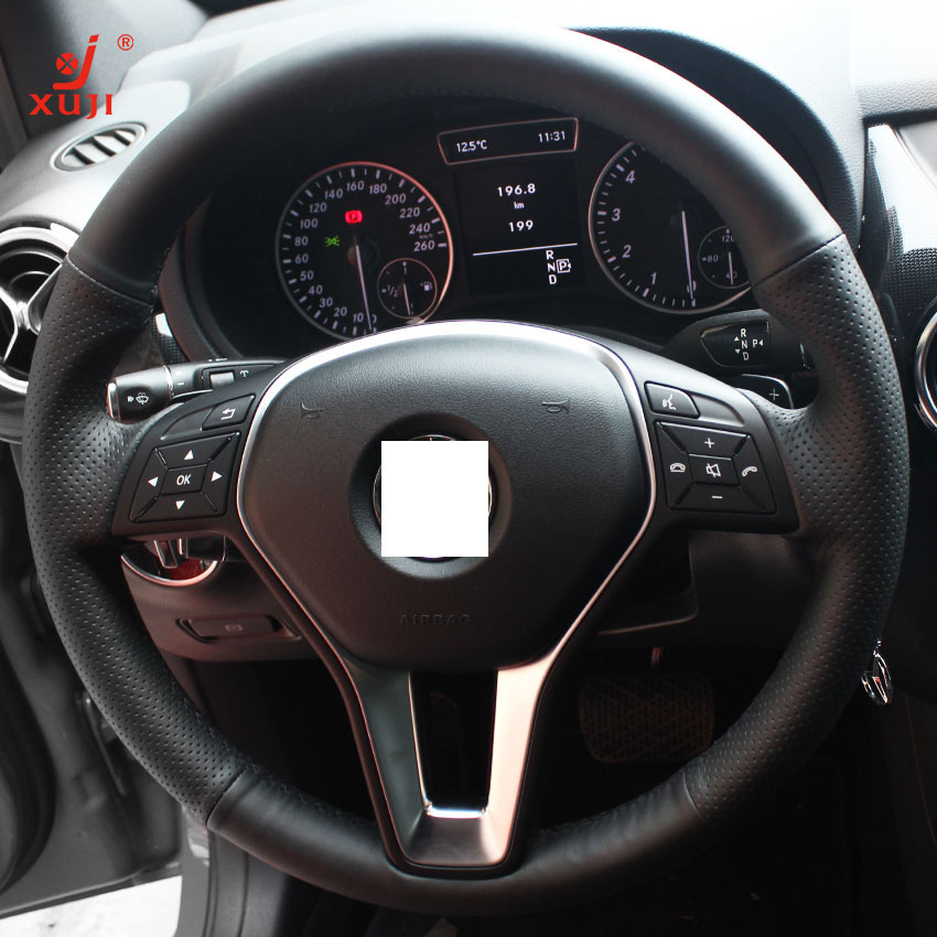 Steering wheel cover for mercedes benz b180 2012 xuji car for Mercedes benz steering wheel cover