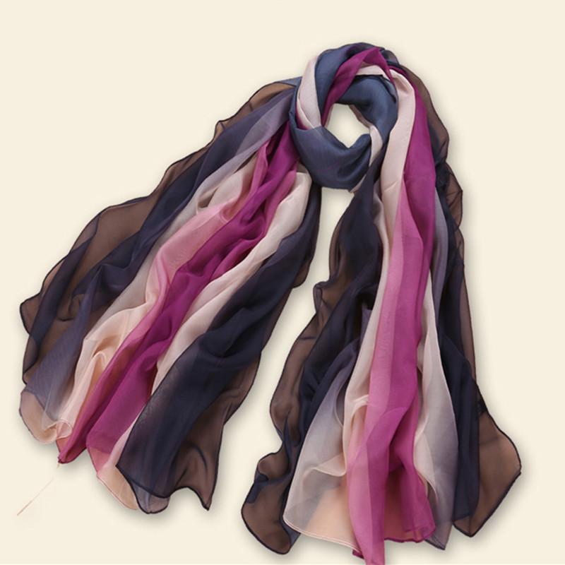 2016 Chiffon scarf ombre plain shawl big size women fashion multi-color scarves shawls muslim scarfs hijabs elegant high quality(China (Mainland))