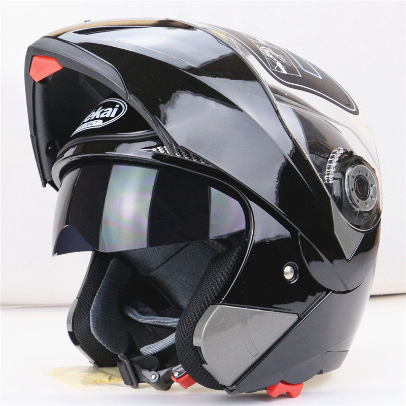 New Arrivals Best Sales Safe Flip Up Motorcycle Helmet With Inner Sun Visor Everybody Affordable Double Lens Motorbike Helmet(China (Mainland))