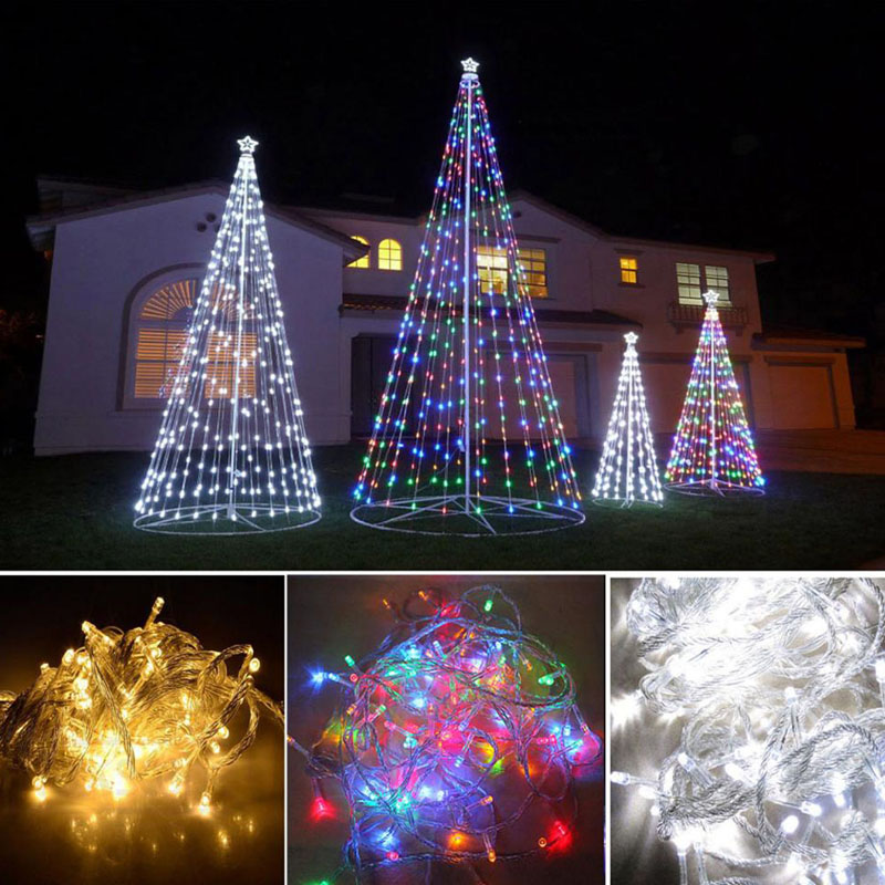 Christmas Decoration For home 10M 100 LED  Xmas Christmas Tree Power String Wedding Light Party  FEN#