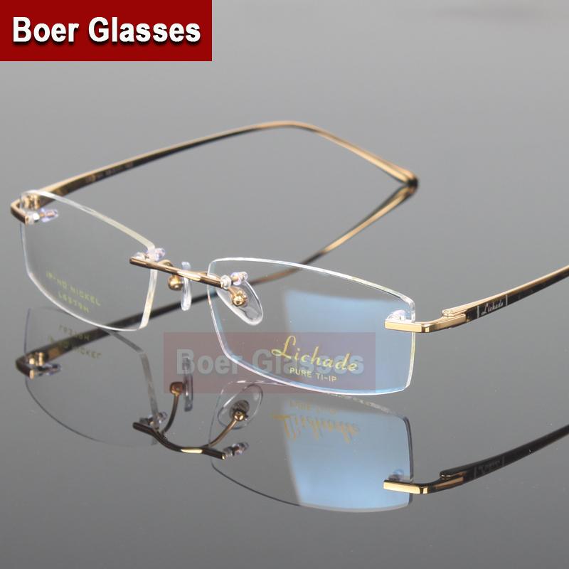 New Arrivals Business Eyewear 100% pure titanium male ...