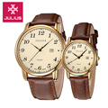 Julius Women s Men s Wrist Watch Quartz Hours Auto Date Best Fashion Dress Leather Couple