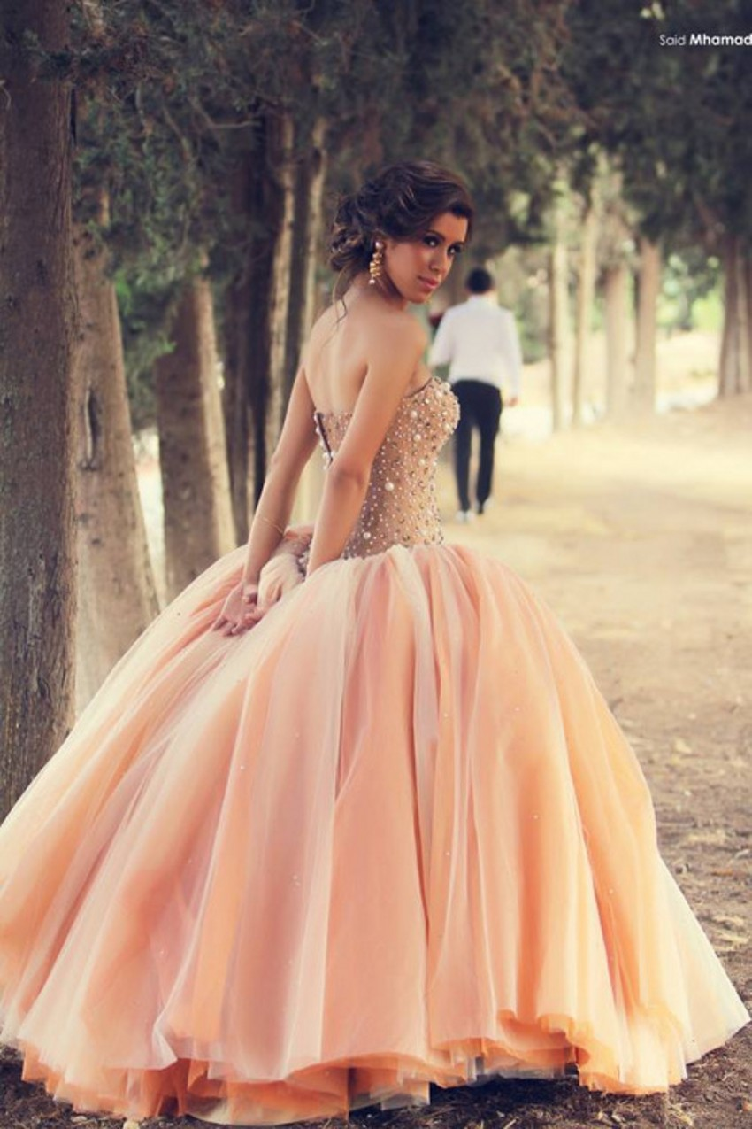 Collection Pink Wedding Gown Pictures - The Fashions Of Paradise