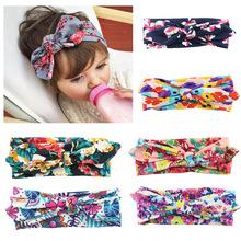 Buy Baby Headwear Newborn Infant Hair Accessories Headbands Girls Rabbit Ears Elastic Hair Bands Flowers Bowknot Children Headdress for $1.02 in AliExpress store