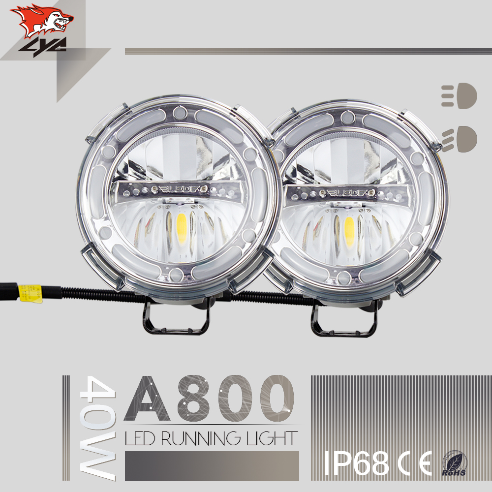Low/High Beam 1800LM 1 PCS For lighted Ford Emblem Car Lights Motorcycle Led Headlight Headlight IP68 Harley Daymaker Led(China (Mainland))