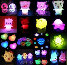Cute 7 Colors Changing LED Night Light Decoration Candle Lamp Nightlight holiday(China (Mainland))