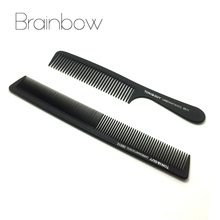 Brainbow 2pc High Quality Black Anti-static Hair Combs Pro Salon Hair Styling Hairdressing Carbon Hair Care Barbers Handle Brush(China (Mainland))