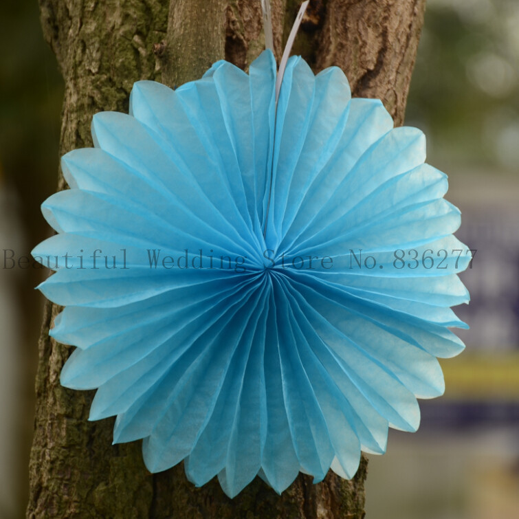 8'' 20cm 20ps/Lot Free Shipping Paper Tissue Giant Coloured Fan Decorations,Tissue Fan,Tissue Paper Fan Decorations,Paper Fan(China (Mainland))