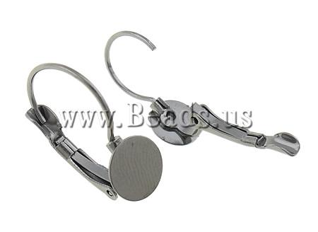 Free shipping!!!Brass Lever Back Earring Component,Brand, plumbum black color plated, nickel, lead & cadmium free, 8x20x13mm