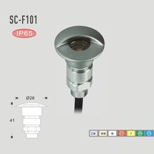 7 Farben Aluminium IP65 Terrasse Uplight 12 V 0,6 Watt SMD2835 LED Unterirdischen Deck Lampe Outdoor Dekoration Lampen Boden treppen Leuchte(China (Mainland))