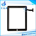 1 piece free shipping black white new replacement parts touch panel for ipad 2 touch screen digitizer with button with adhesive