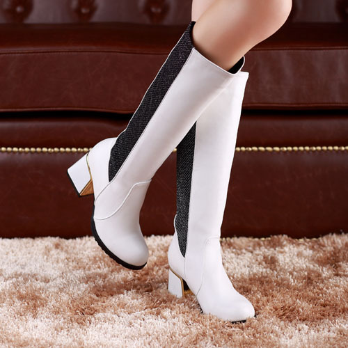 ENMAYER NewCome Gladiator Thick Heels Knee High Boots for Women Casual Dress Motorcycle boots Platform Shoes Autumn Winter Boots<br><br>Aliexpress