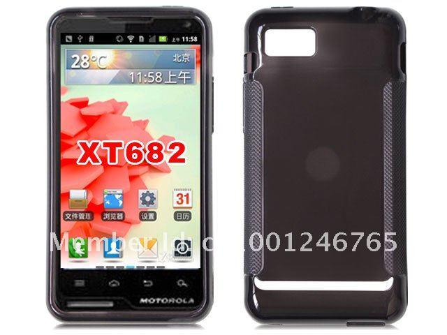 Free Ship DHL! Latest Glossy Tpu Protector Case Cover for Motorola ATRIX TV XT682(China (Mainland))