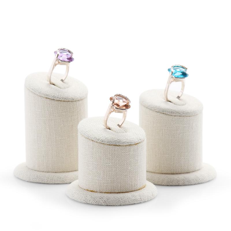 Lot of 3 Ring Display Holder Korea Linen Ring Display Stand Jewellery Display Stand Ring Display Showcase(China (Mainland))