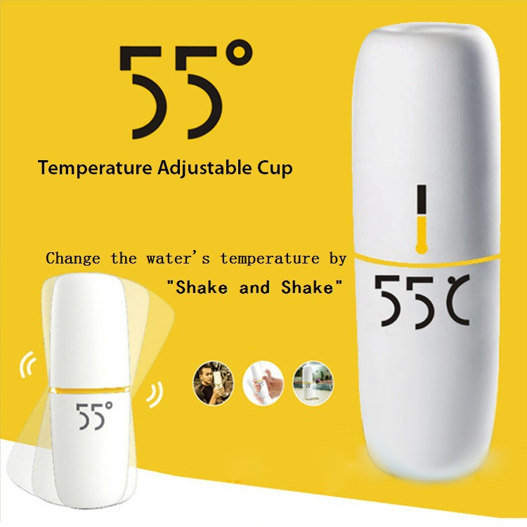 Quality Stainless Steel Thermos Cup Quick Cooling 55 Degree Water / Milk Coffee Temperature Adjustable Thermo Mug - Nancy Sue's store
