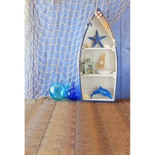 Customize fish net ship children newborn photography background for photo studio vinyl Digital Printing backdrop 6X10ft(China (Mainland))