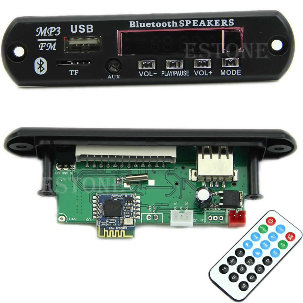 A25 hot-selling USB TF Radio Bluetooth MP3 WMA Decoder Board 12V Wireless Audio Module for Car free shipping(China (Mainland))