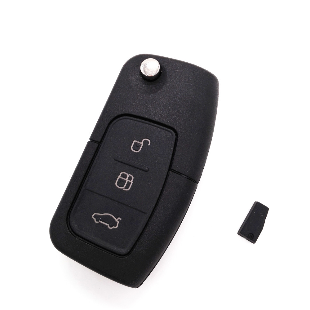 Hot!Brand New Folding Flip Remote Car Key 3 Button 433MHZ For FORD Focus Mondeo Fiesta With 4D-63 chip(China (Mainland))