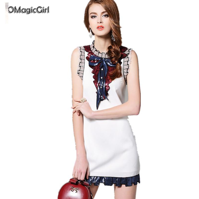 European Summer Casual Dresses 2016 New Women Sexy Sleeveless Style Beach Dress Mini Malist Sequined Ornaments Dress Plus Size(China (Mainland))