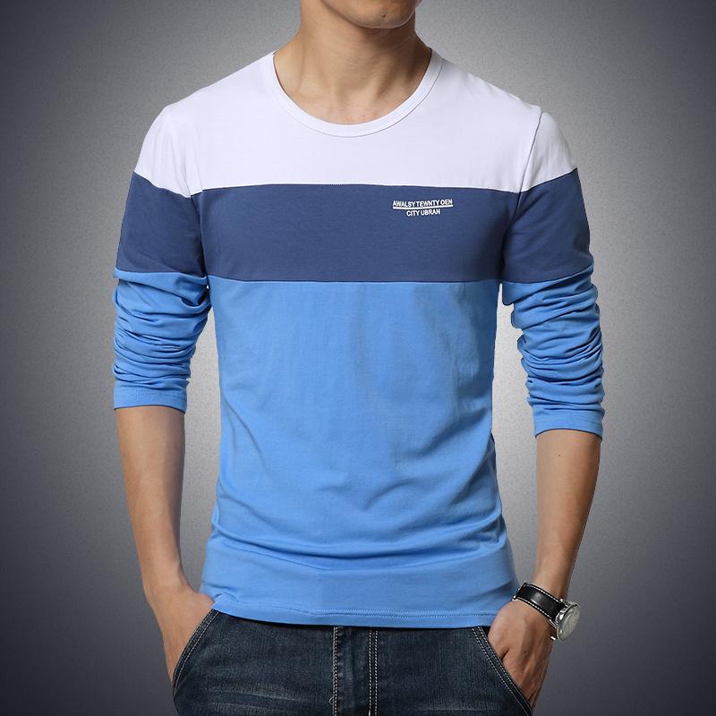 T shirt men fashion brand men clothes long sleeve slim fit for Men s t shirt top brands