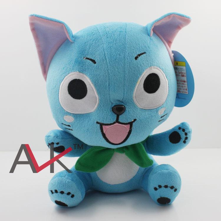 Free shipping 5pcs lot font b Anime b font Cartoon Fairy Tail Happy Cat Plush Toy