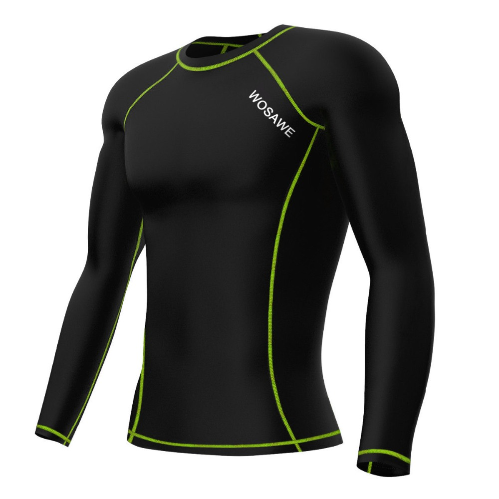 High Elastic Compression Sports Base Layers Long-sleeve Shirt Jersey Body Building Running Jersey men Cycling Base Layers B260<br><br>Aliexpress