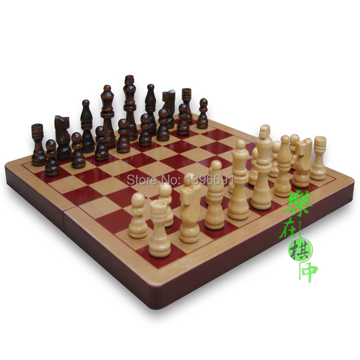 Wooden chess set folding easy to carry in chess sets from sports entertainment on aliexpress - Simple chess set ...
