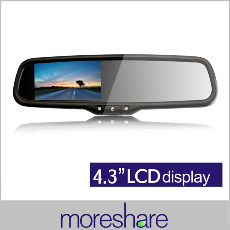 Car Mirror Monitors 4.3inch TFT LCD Reverse Display Rearview Monitor Dual Input CCD Camera DVD+Special Bracket - Shenzhen Moreshare Group Co.,Ltd store