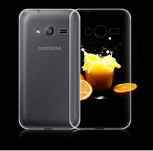 Для Samsung Galaxy Ace 4 G313 G313H G313F Neo Duos G318H / DS G318ML новый ультра тонкий прозрачный ясно тпу гель мягкий чехол капа