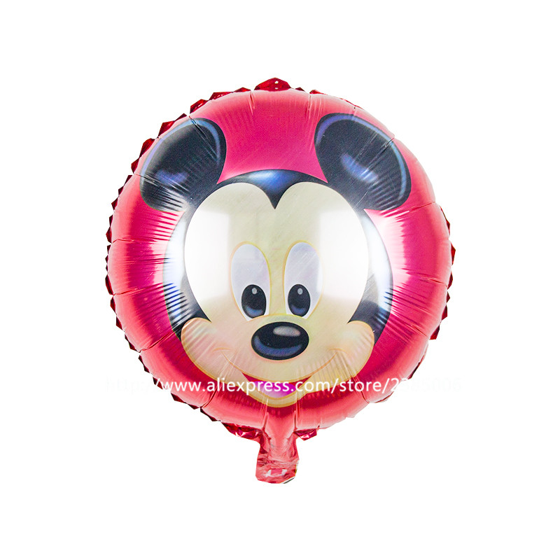 50pcs/lot18inch party furnishing children's toys round 18-inch aluminum balloons Mickey balloons wholesale(China (Mainland))