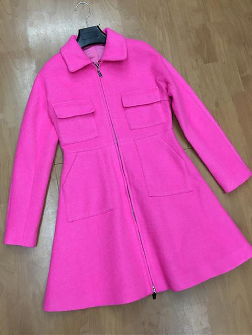 Pocket Wool Overcoat Outerwear Female Medium-long Slim Expansion BottomОдежда и ак�е��уары<br><br><br>Aliexpress