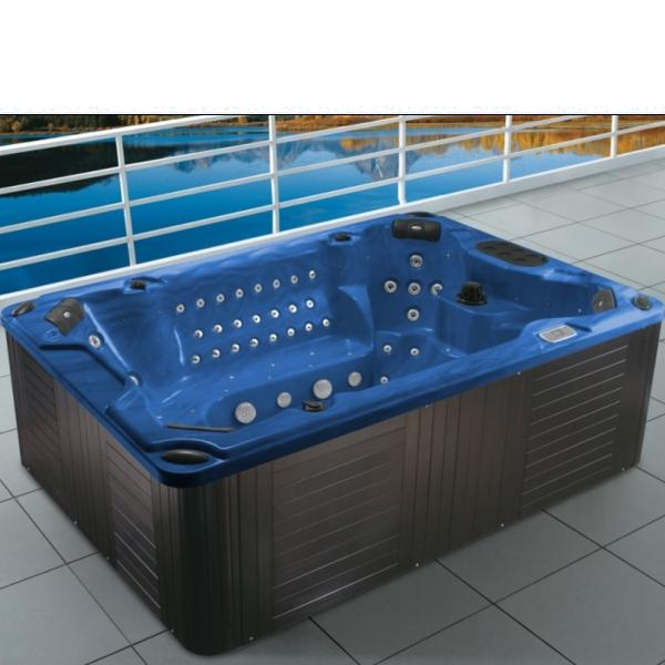 M 3303 outdoor garden luxury hot tub freestanding spa tub for Best freestanding tub material