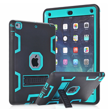Hybrid Armor Case For iPad Air 1 Kids Safe Shockproof Heavy Duty Silicone Hard Case Cover w/Screen Protector Film & Stylus Pen(China (Mainland))