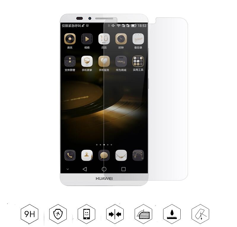 Thin 0.3mm Explosion Proof Premium Toughened Tempered Glass Screen Protector Anti-scratch Film For Huawei Ascend Mate 7(China (Mainland))
